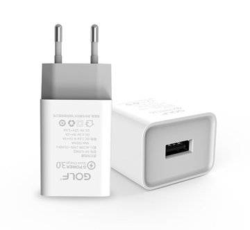 Picture of ΦΟΡΤΙΣΤΗΣ ΜΠΡΙΖΑΣ GOLF MICRO-USB  MAX 3A 5V DC U206Q QUICK CHARGE