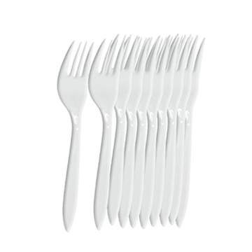 Picture of PLASTIC WHITE SPOONS PACK OF 10PCS