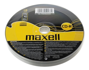 Picture of CD-R MAXELL 4,7GB X16 120min 10PACK
