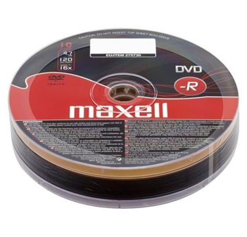 Picture of DVD-R MAXEL 4,7GB 120min X16  SPIN 10TEM