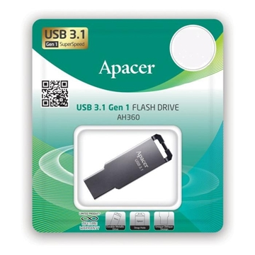 Picture of MNHMH USB APACER 32GB USB 3.1  AH360 MIRROR SILVER