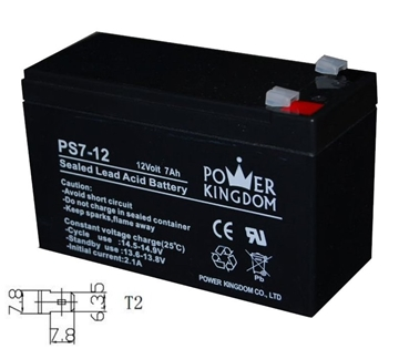 Picture of ΜΠΑΤΑΡΙΕΣ UPS 12VOLT 7Ah POWER KINGDOM Τ2 (ΦΑΡΔΙΟΙ ΑΚΡΟΔΕΚΤΕΣ)