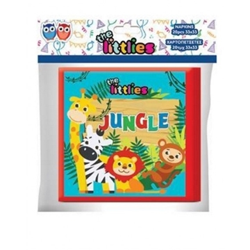 Picture of ΧΑΡΤΟΠΕΤΣΕΤΕΣ ΠΑΡΤΥ THE LITTLIES JUNGLE 33X33EK. 20TEM  000646106