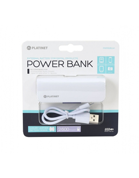 POWERBANK PLATINET LEATHER  2600mAh WHITE PMPB26LW