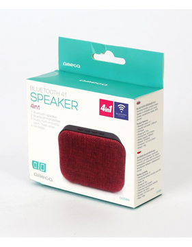 ΗΧΕΙΑ BLUETOOTH ΦΟΡΗΤΟ OMEGA SPEAKER OG58R BLUETOOTH 3W FABRIC RED