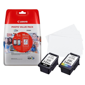 ΜΕΛΑΝΗ CANON PG-545XL/CL-546XL MULTI PACK +PHOTO PAPER BLACK&COLOR